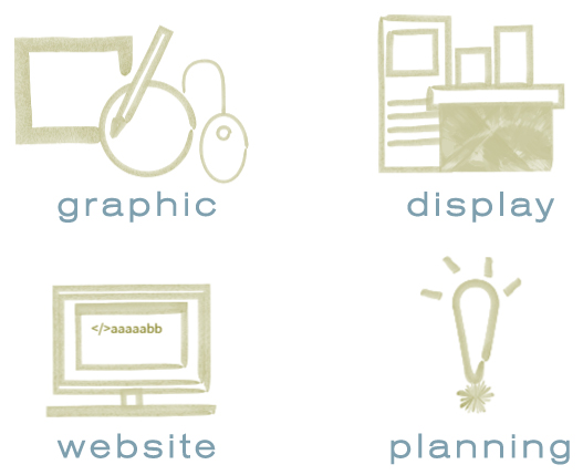 graphic display website planning